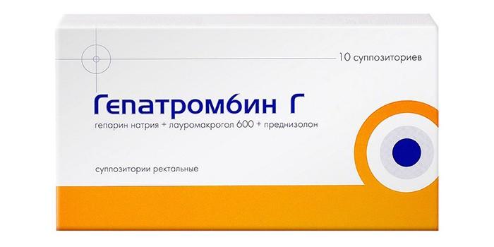 свечи гепариновые гепатромбин г