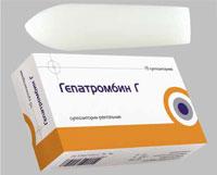 Гепатромбин Г - свечи от геморроя для беременных